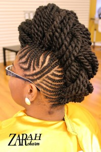 Cornrow Mohawk small braids