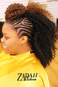 Cornrow Crochet Mohawk