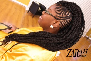 Cornrow Mohawk with Small Braids